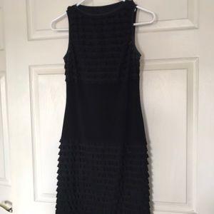 Joseph Ribkoff black ruffle tank dress